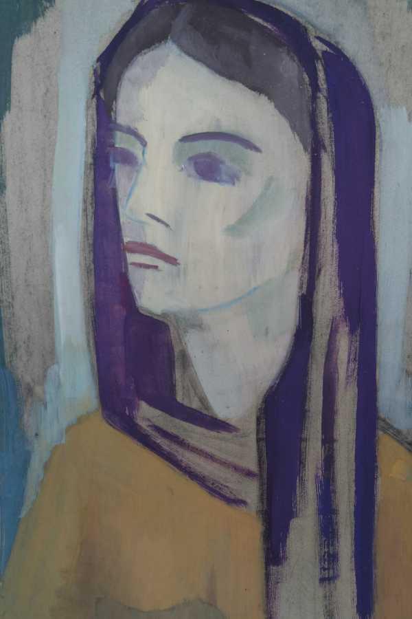Hoppe elsa 1901 1991 g ttingen portrait einer frau mit for Klassische moderne